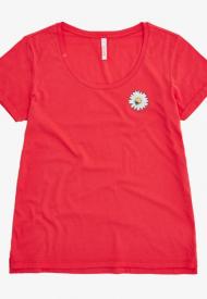 Sun68 T-Shirt Donna Round Print On Chest S/S Colore Bubble Gum T30216
