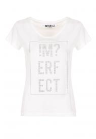 T-SHIRT IMPERFECT DONNA M/M UNITA WOMAN WHITE IW20S20TG