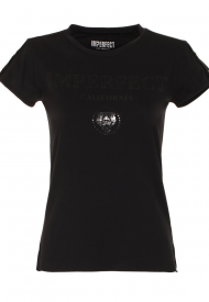 T-Shirt Girocollo Donna IMPERFECT Colore Nero Mod. IW20W10TG