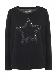 T-Shirt Girocollo Donna IMPERFECT Colore Nero Mod. IW20W19TG