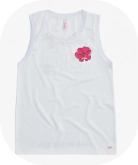 Sun68 T-Shirt Donna Tank Colore Bianco T30218
