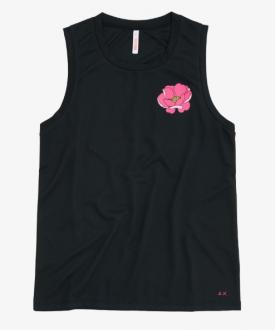 Sun68 T-Shirt Donna Tank Colore Nero T30218